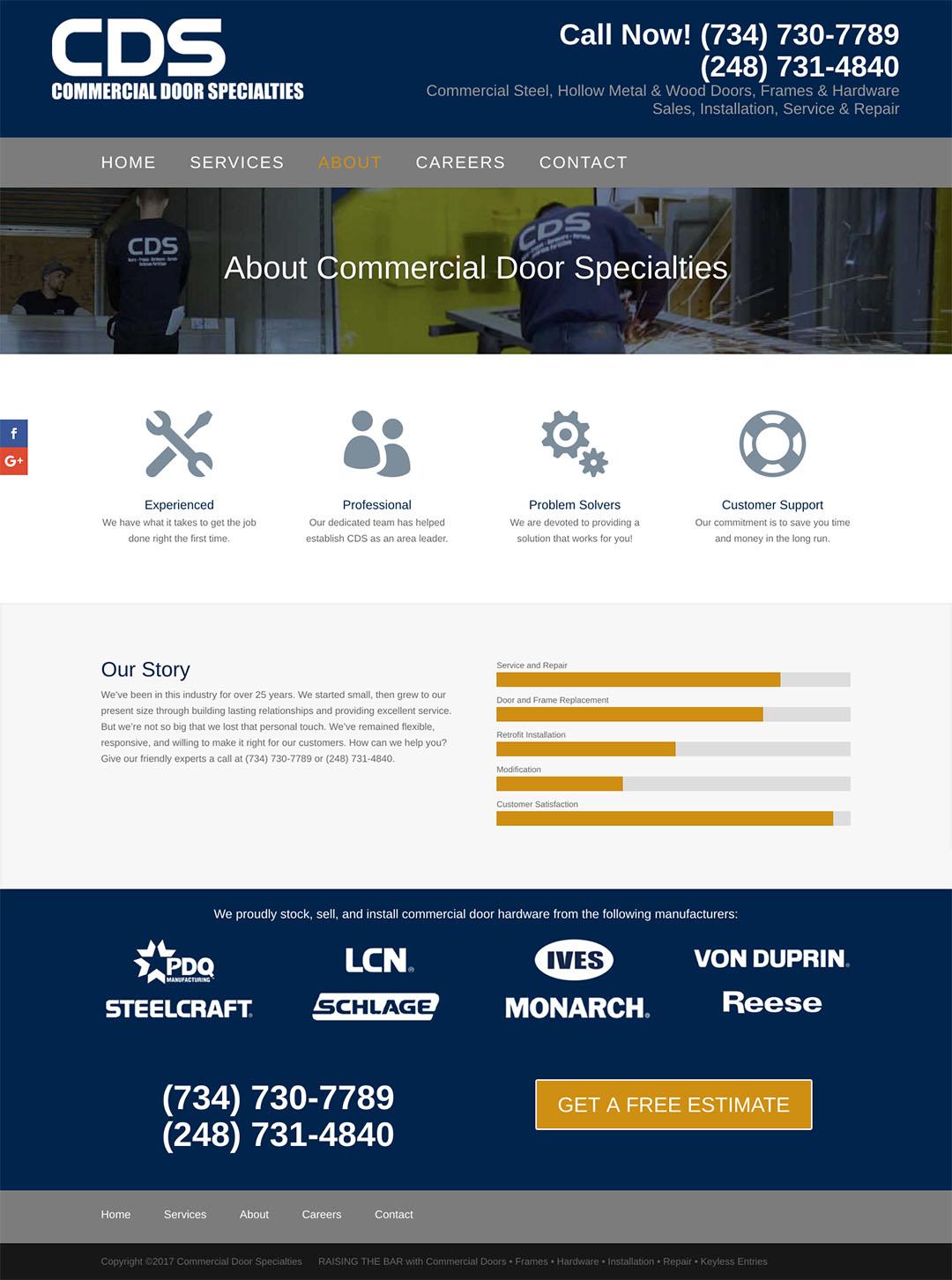 Commercial Door Specialties About