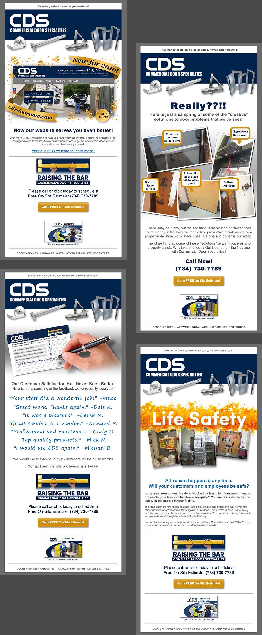 Commercial Door Specialties Email Newsletters
